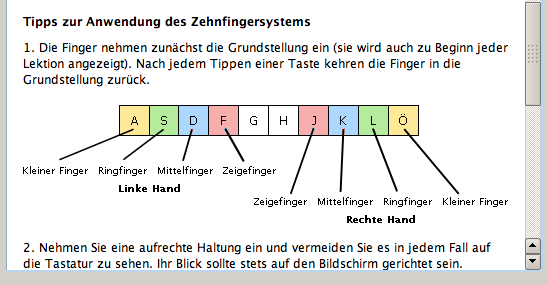 10 Fingersystem Richtige Fingerposition